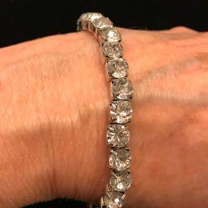 Rhinestone stretch to fit bracelet